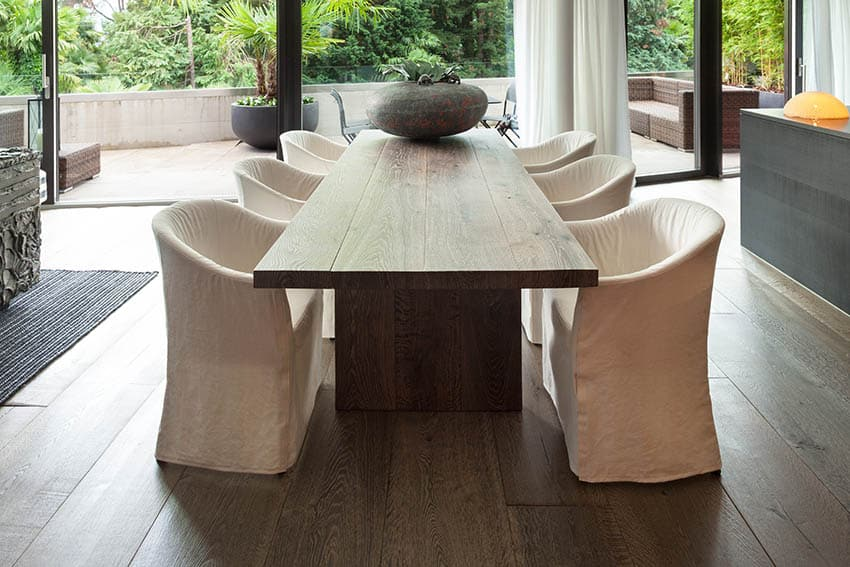 Slab top dining table