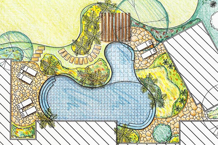 Swimming pool design art