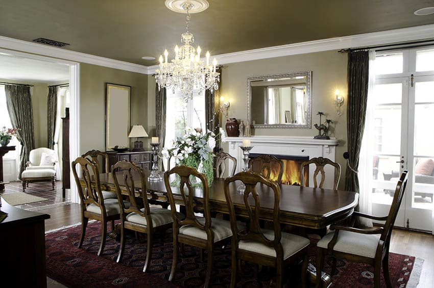 Traditional dining room table