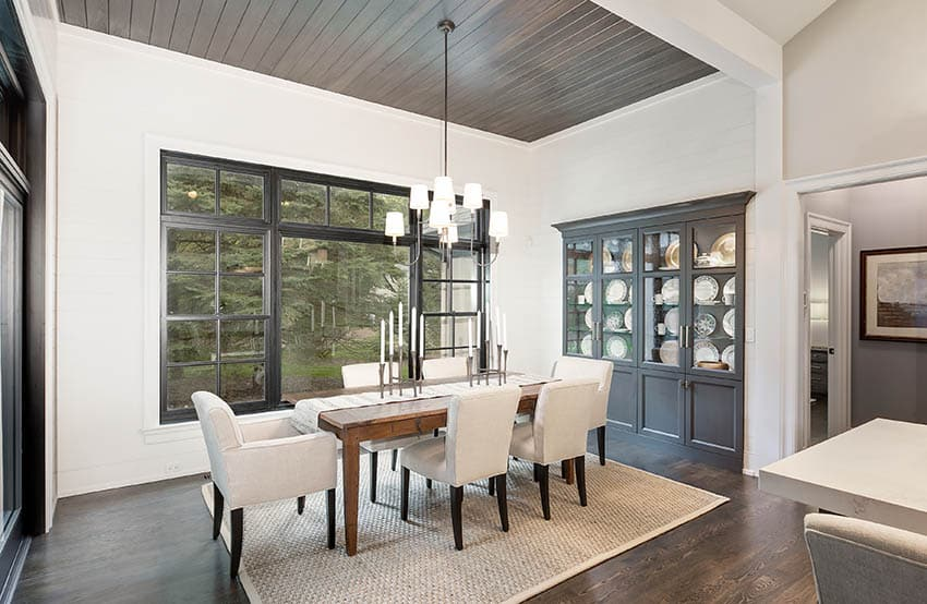 Wood shaker dining table