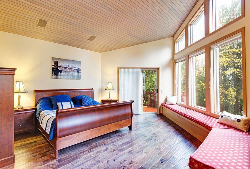 Wood sleigh bed headboard