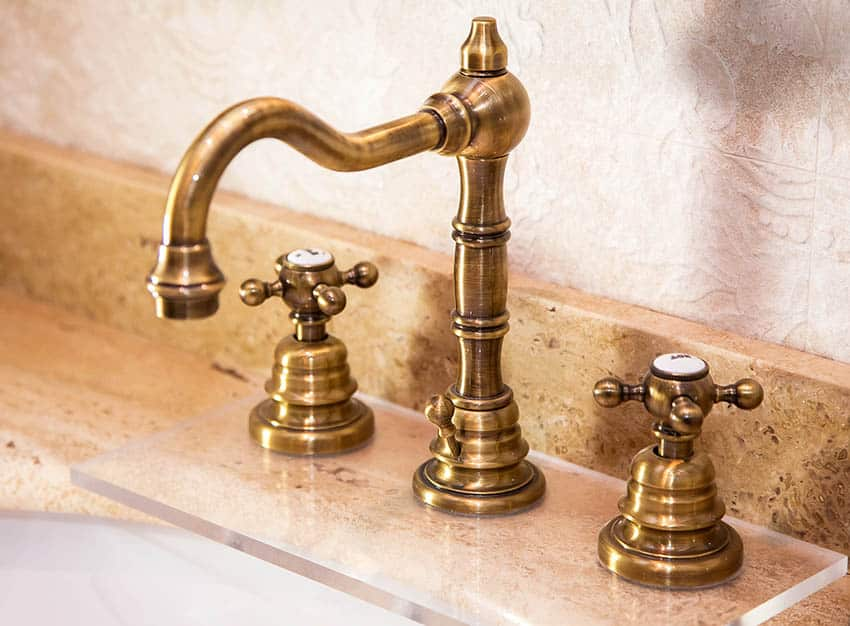 Antique copper faucet finish
