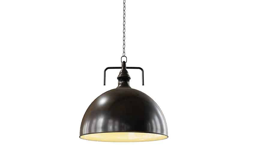 Black pendant ceiling light with chain