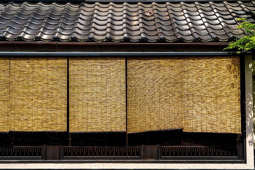 Exterior bamboo shades