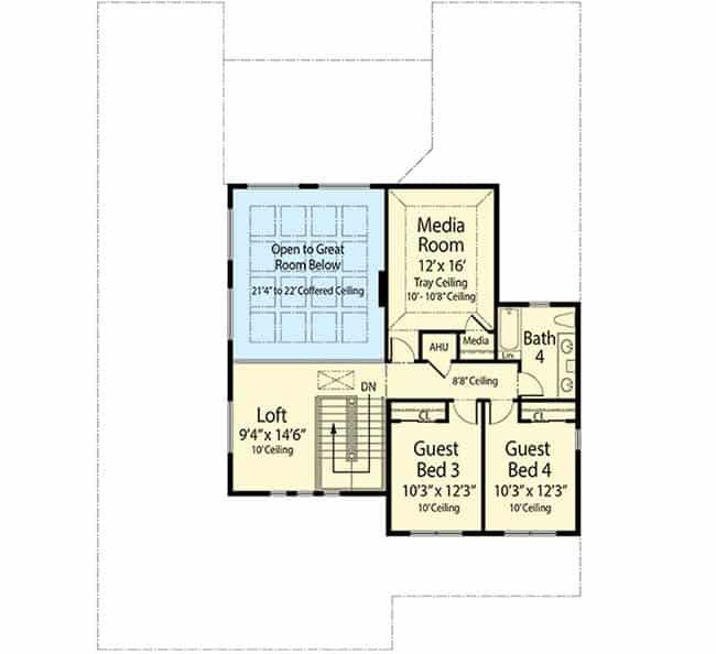 Florida house floor plan 2nd floor