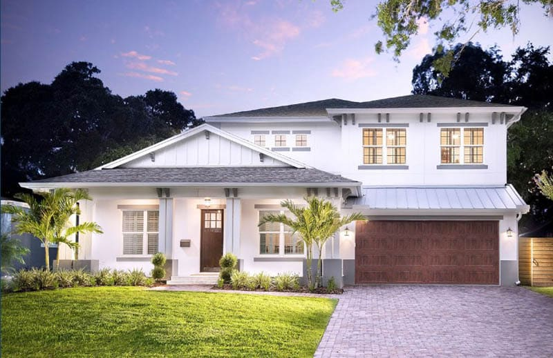 Florida house plan exterior front