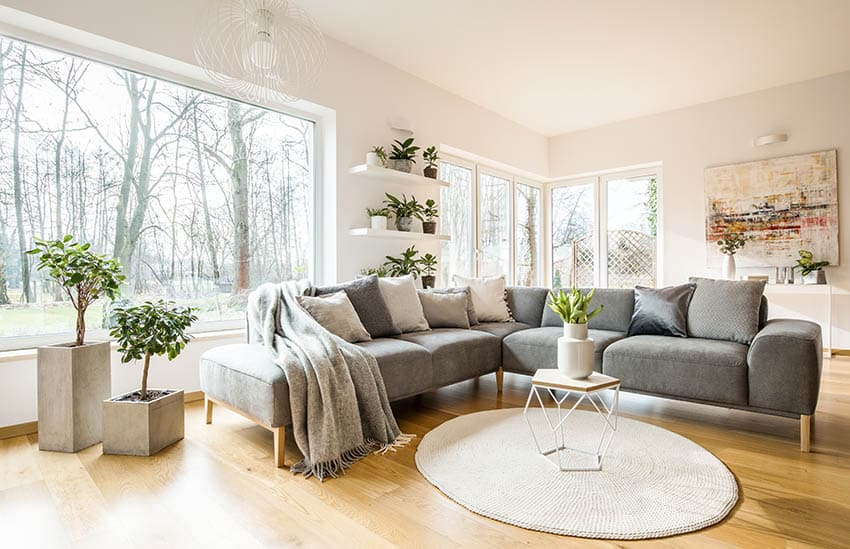 Living room with large picture window