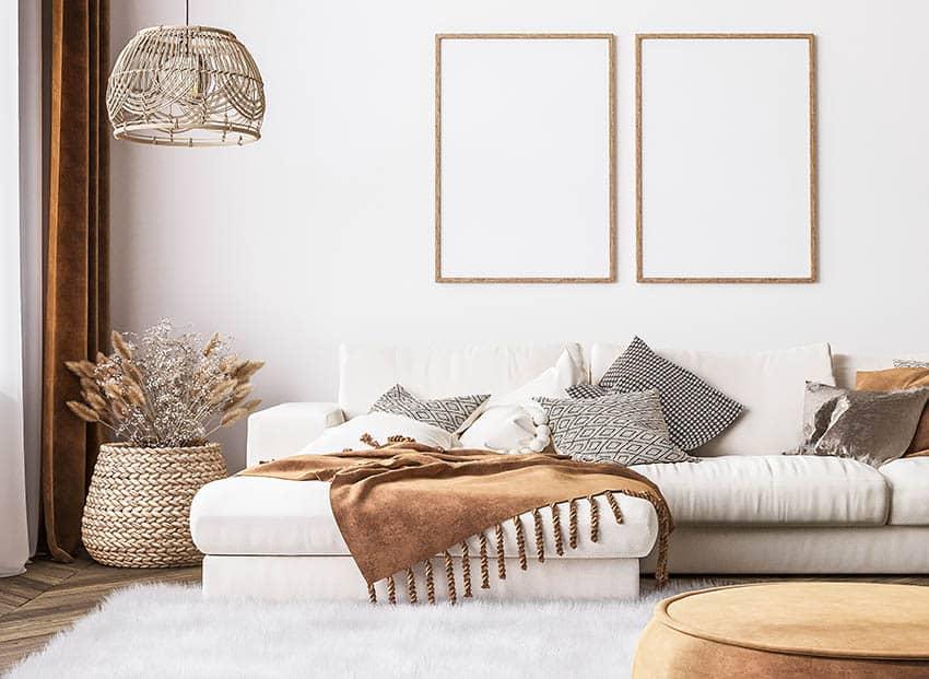 Modern farmhouse sectional sofa