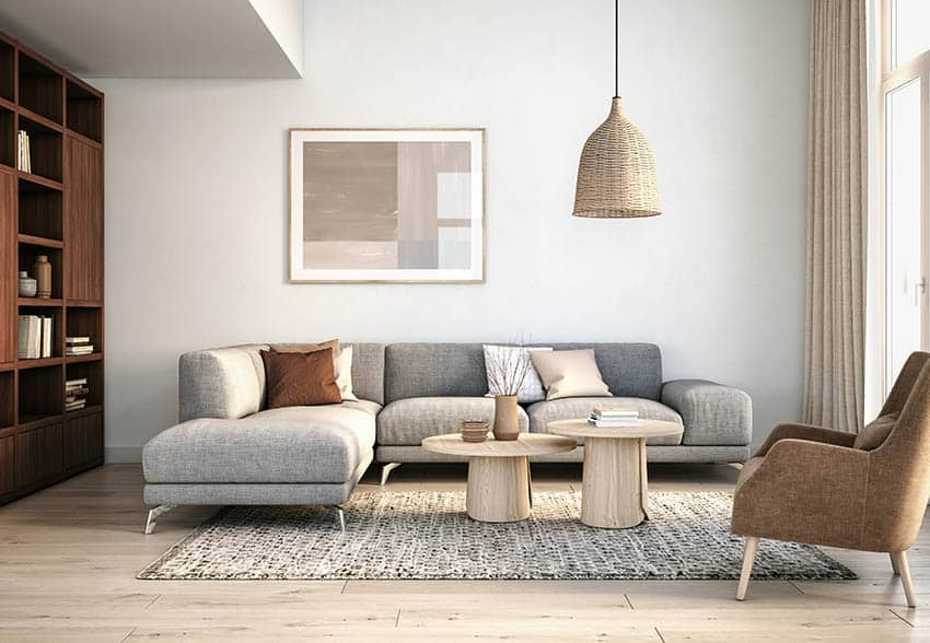 Modern sectional sofa with chaise lounge