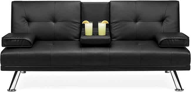 Modern vinyl sleeper couch