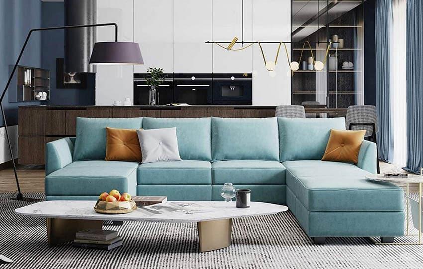Modular modern sectional sofa
