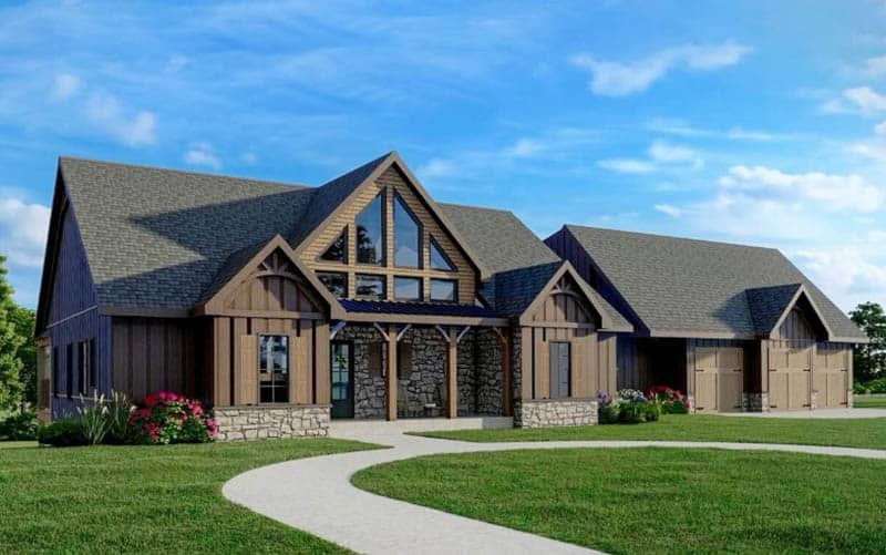 Mountain cottage house design 3 bedroom