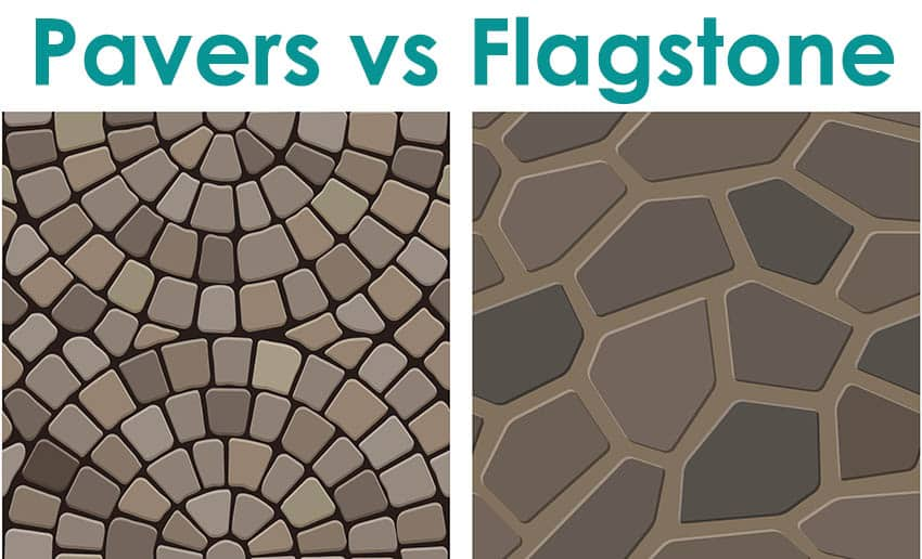 Pavers vs flagstone landscaping materials
