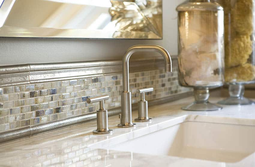 Pewter finish faucet