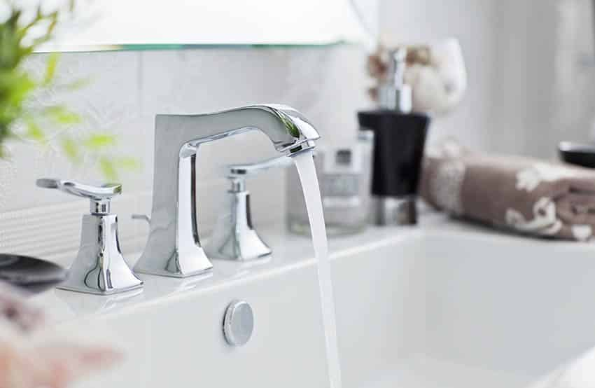 Stainless steel finish faucet