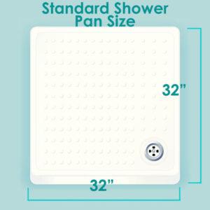Standard shower base size