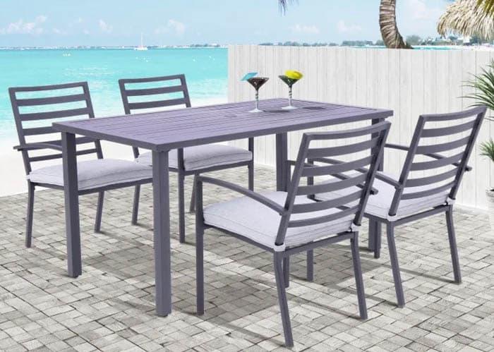 Aluminum outdoor patio dining furniture