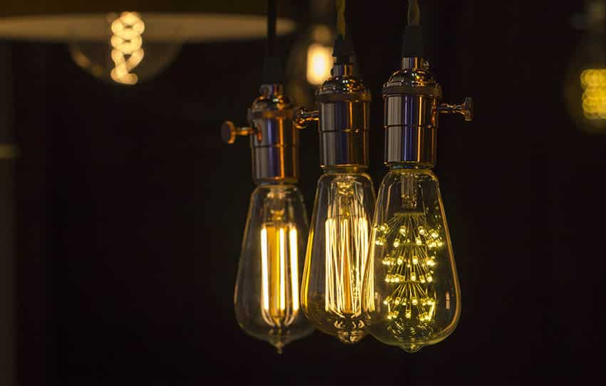Antique style hanging led Edison light bulbs