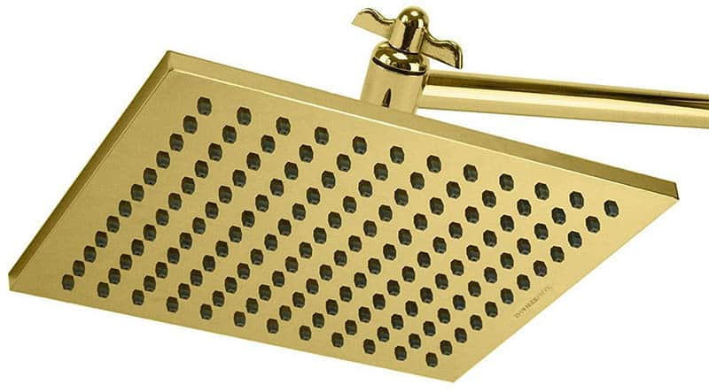 Brass rainfall shower head