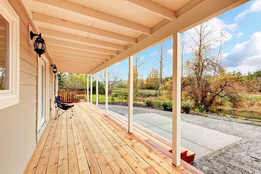 Cedar deck porch