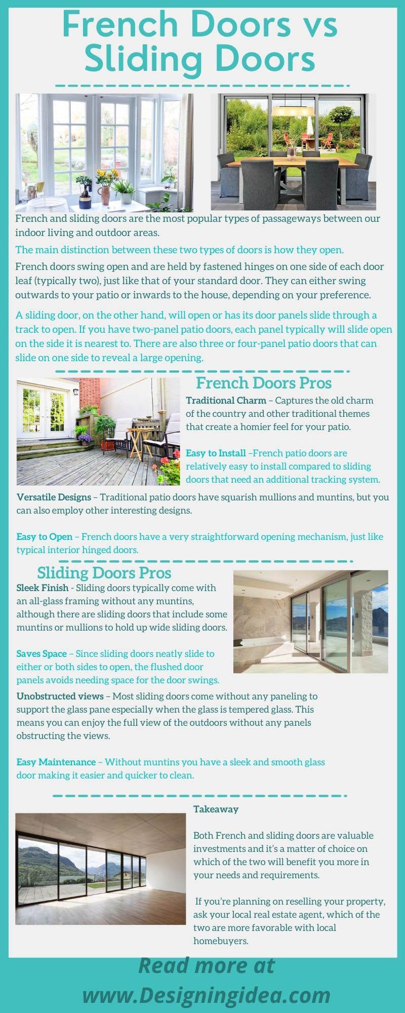 French doors vs sliding doors infographic