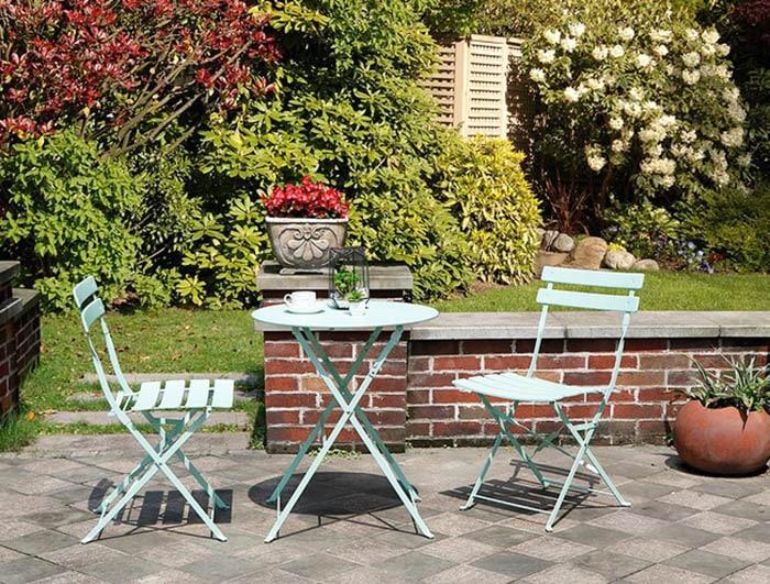 Powder coated garden patio set