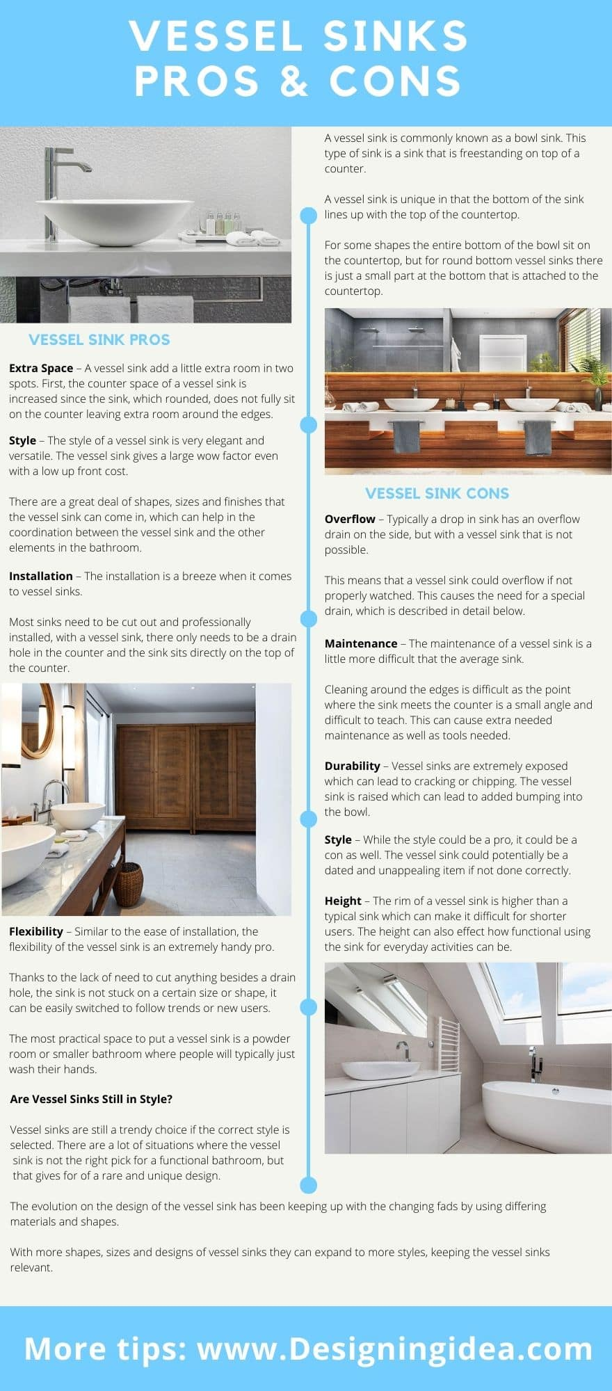 Vessel sinks pros and cons