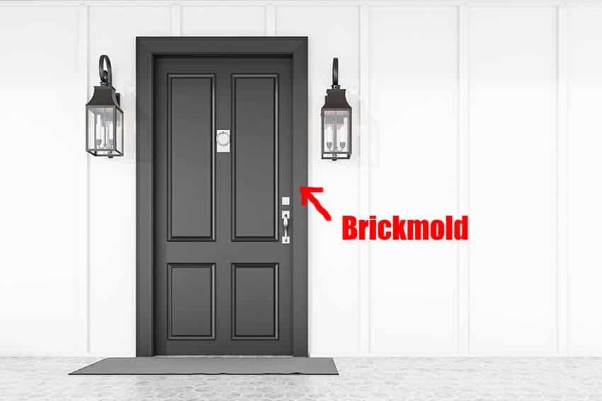 What is brickmold on black front door home