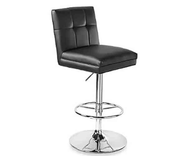 Adjustable spectator height bar stool