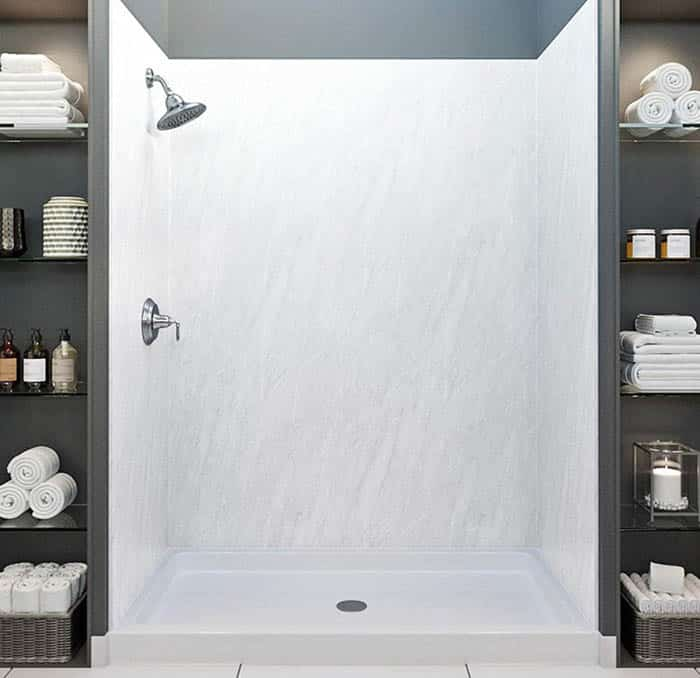 Bathroom cultured marble shower walls