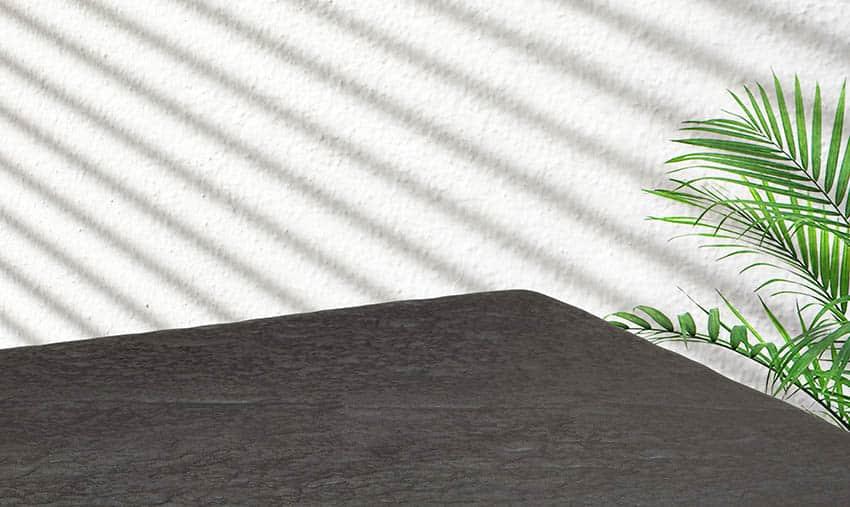 Black leathered granite countertop
