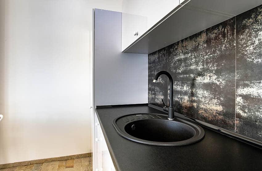 Black pearl leathered granite kitchen countertops