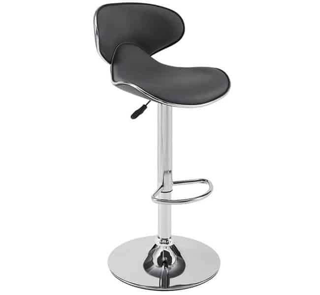 Contemporary adjustable spectator height bar stool with swivel design