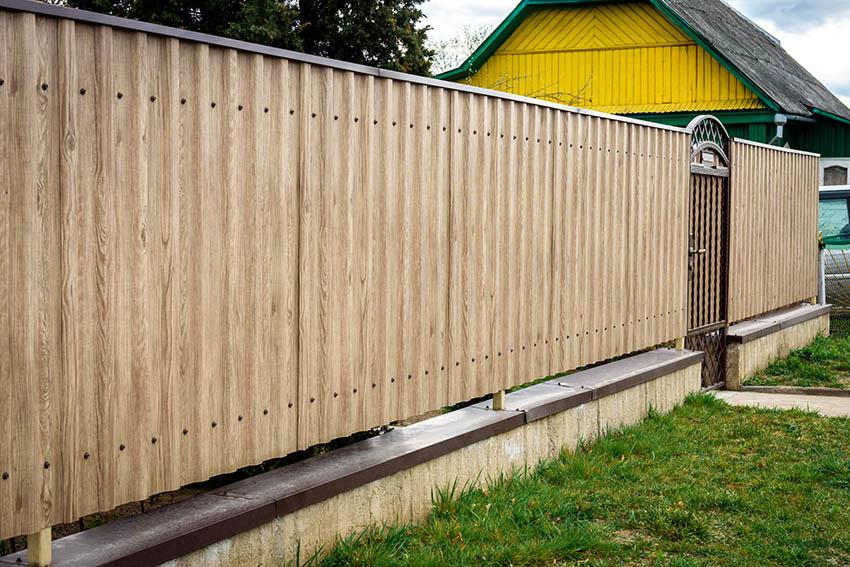 Corrugated metal wood plank design