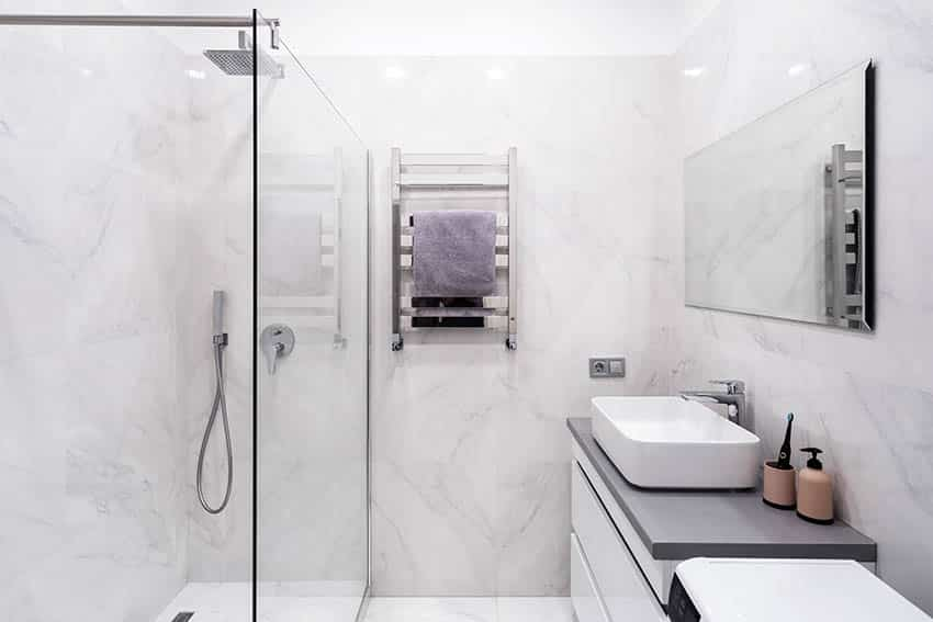 Cultured marble bathroom shower and walls