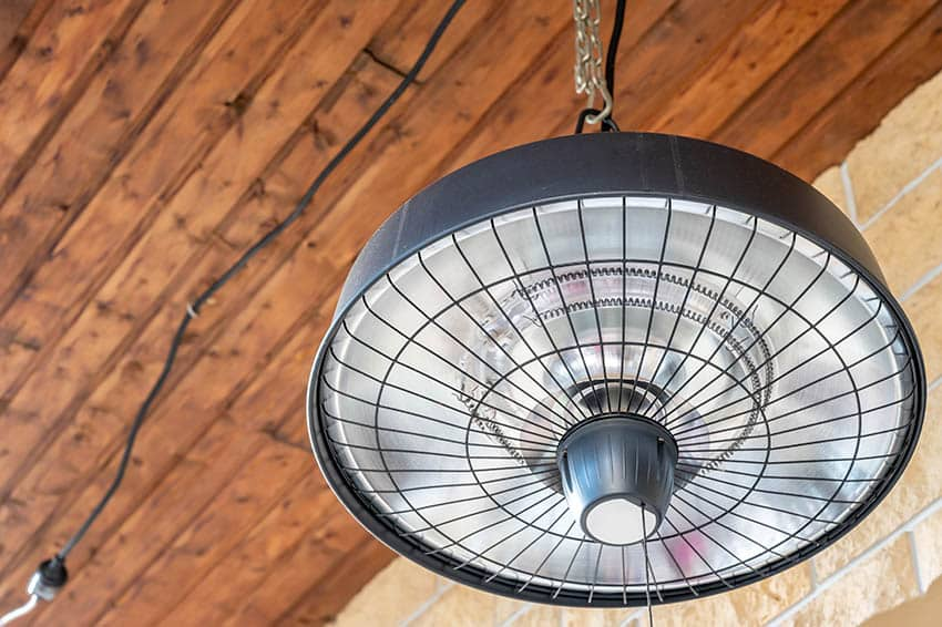 Hanging outdoor electric heater