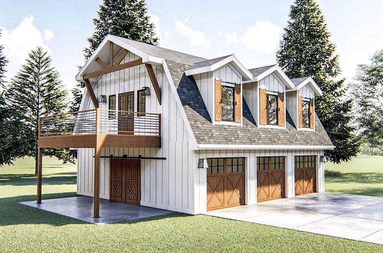 Modern barn home garage apartment