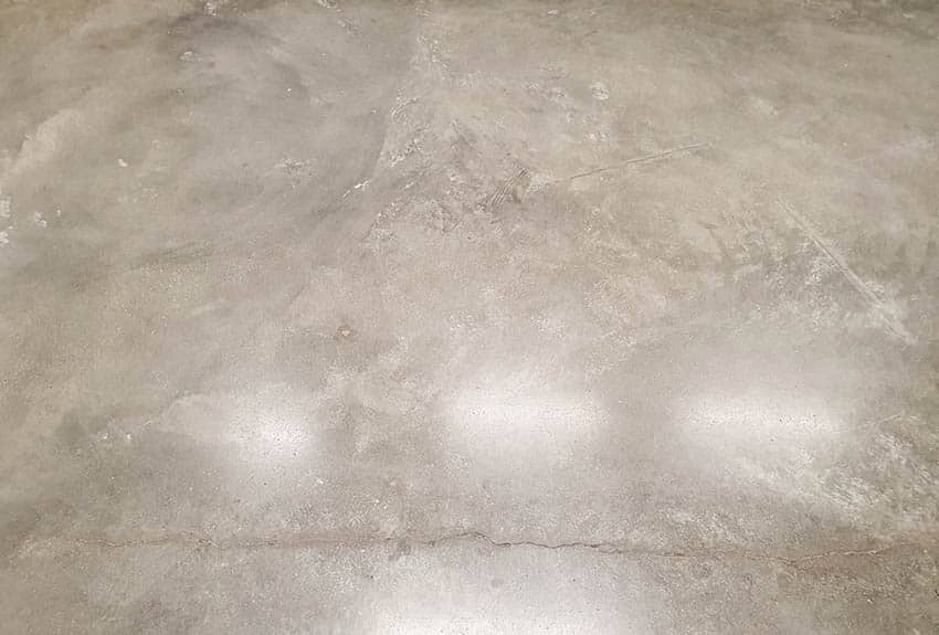 Polished concrete floor close up