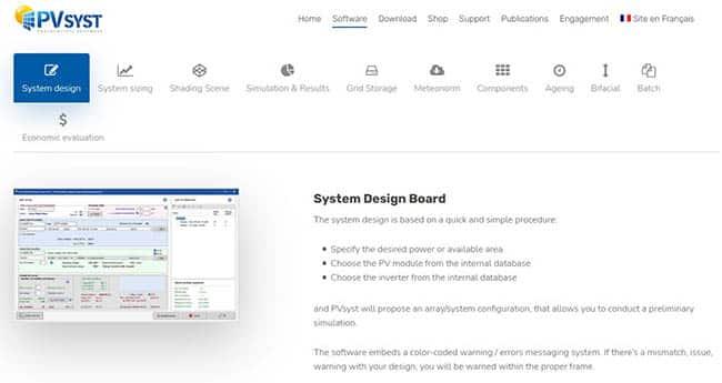Pvsyst solar software
