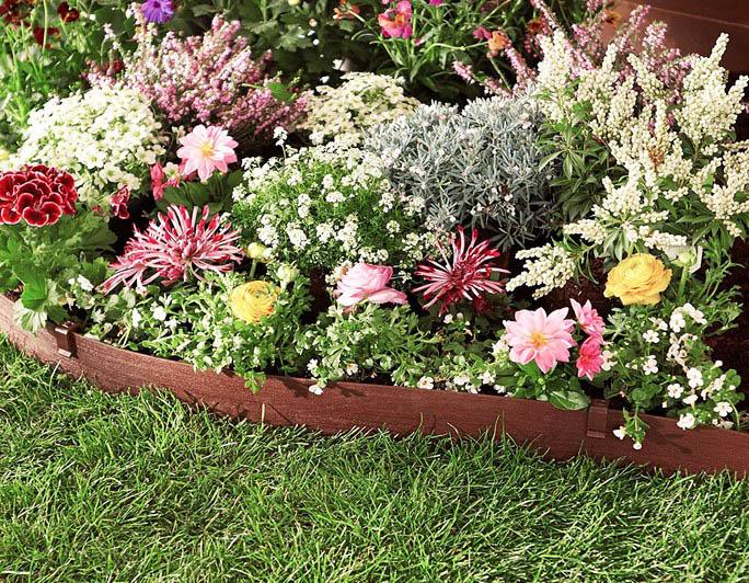 Composite wood garden edging