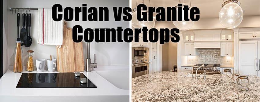 Corian vs granite kitchen countertops