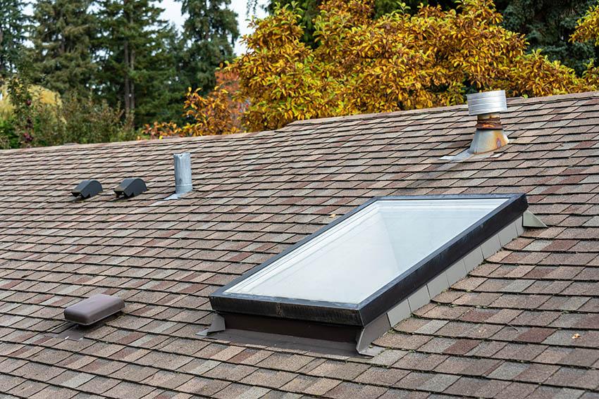Curb mounted skylight