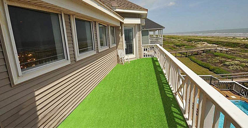 Fake grass rug for patio by pet grow