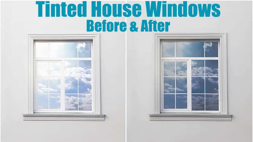 House window tint before and after