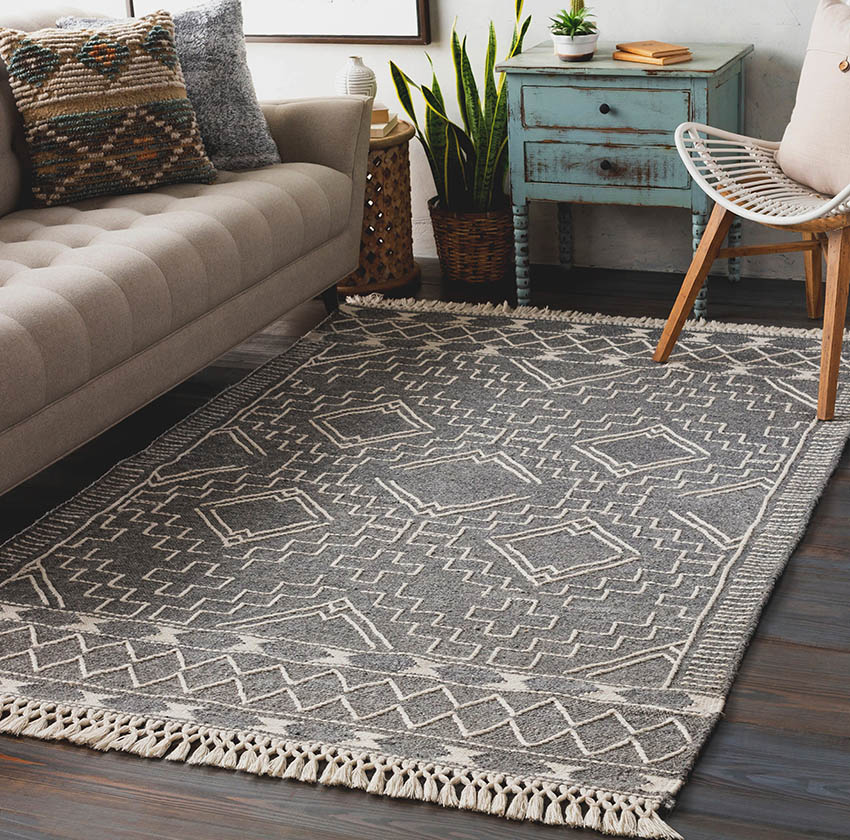 Living room with wool rug