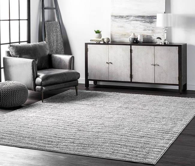 Modern polypropylene rug in living room