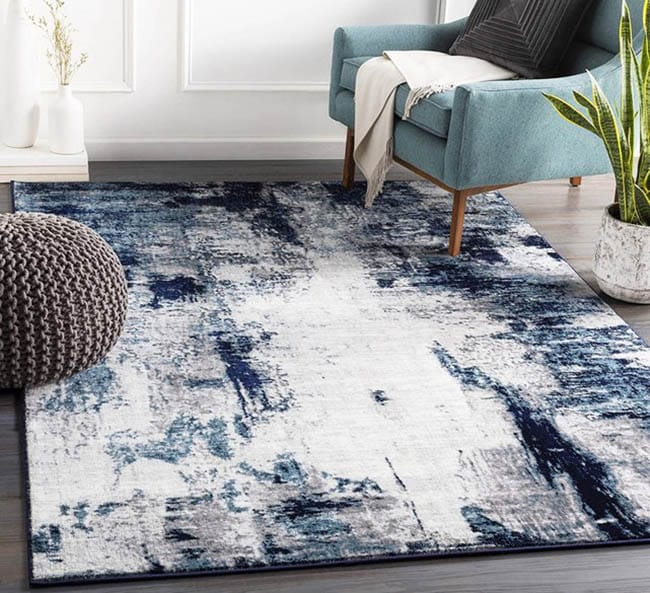 Modern style polyester area rug
