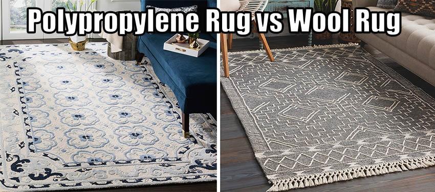 Polypropylene rug vs wool rug
