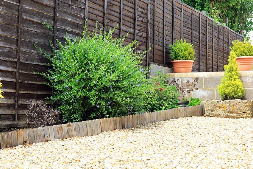 Pressure treated wood garden edging