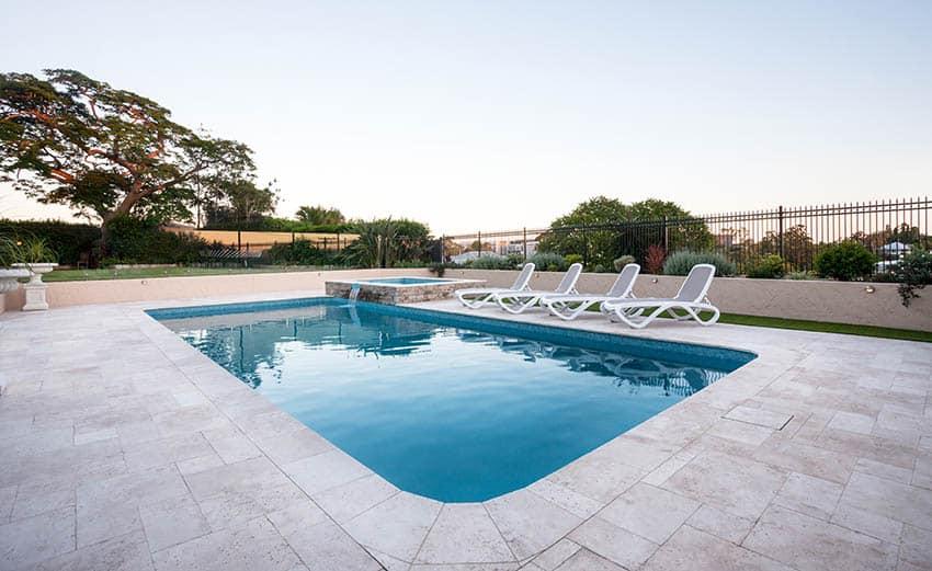 Shell stone pool deck